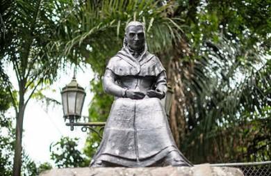 Amelia Denis De Icaza statue at the Ancon Hill, Panama