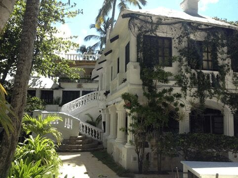 Beautiful white building in the DR