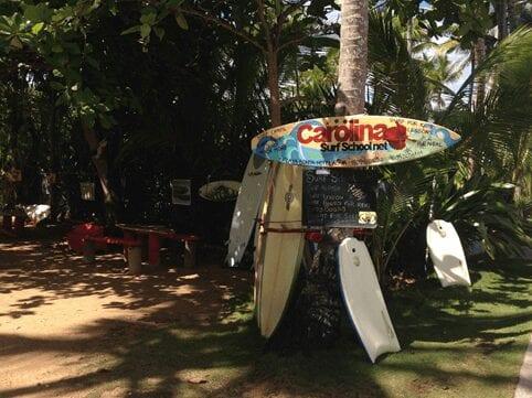 Carolina Surf School at the Dominican Republic