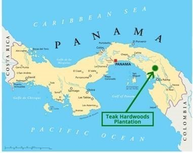 Panama Teak Hardwood Plantation Location